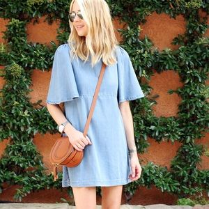 Zara Loose cut dress with frilled sleeves